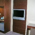 TV/fridge area