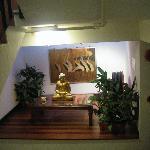 Display on second floor staircase landing