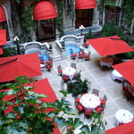 The inner atrium courtyard is perfect for lunch or dinner.