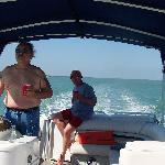 On the boat near Cape Romano