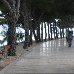 The marble beach path to the main beach