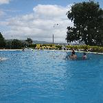 Outdoor Pool--Included with hotel fee but cold and windy in late June