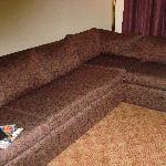 sofa, very uncomfortable
