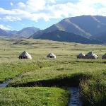 Yurtcamp near the Issyk-kul lake
