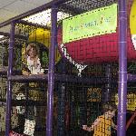 Kids climbing area