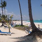 Hermosa vista de la mejor playa de Punta Cana