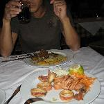 Lamb special and fried calamari at Rozalia's