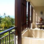 Our Balcony and marble bath