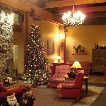 christmastime lobby