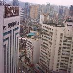 View of Guiyang from hall window.