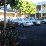 center parking courtyard