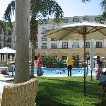 Outdoor pool and dining