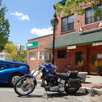 A Harley and a Ford outside 4 Main Street