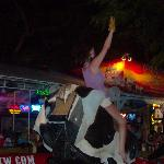 mechanical bull! pretty funny to watch.