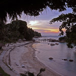 Sunset in front of Turi Resort.