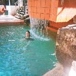 me swimming in the pool VERY refreshing