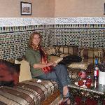 Predinner drinks in the Riad El Noujoum
