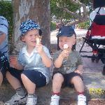 boys enjoying themselves