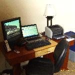 A large desk with free Internet allowed me to work from the room if needed.