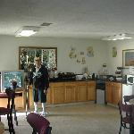 Father in Best western Kitchen area