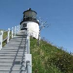 Two lighthouses in Rockland plus the lighthouse museum. This is Owl's Head Lighthouse.