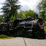 The 1910 Steam Engine at the ferry flagstop