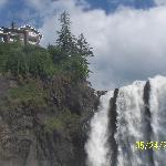 Salish Lodge and the falls