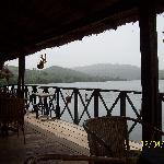 View of lake Volta from the restaurant