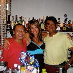 Carlos, me and Michael! Just another night at the bar!