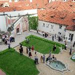 The courtyard below  (a wedding was taking place)