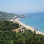 Transfer road from PVK airport to Parga