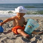 Jackson on the beach