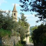Approaching hotel from Cortona
