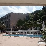 View of hotel from seaward side, from pool area