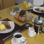 delicious american breakfast served in our villa