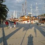 The sailing ships docking overnight at Trogir's Riva