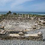Roman ruins just a 5 minute walk down the beach