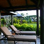 Deck Chairs outside our bure