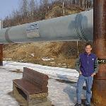 Daniel at Fairbanks Oil Pipeline Station