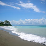 One of the beaches accesible by the Golfo Dulce trail