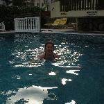 Me in the pool in the evening