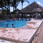 The pool facing towards the beach.