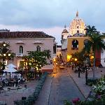 Plaza in front of the Charleston Cartagena, Hotel Santa Teresa