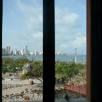 View of Caribbean from shower, room 418