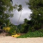 storm at Muri beach