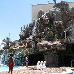 Poolside View of the 5-Story Waterfall