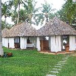 the massage huts