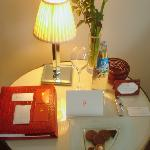Chocolates and water in the bedroom