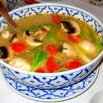 Tom Yum with shrimp