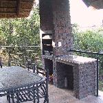 The braai area of the chalet